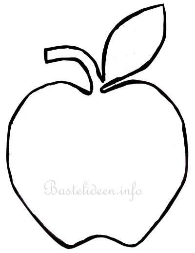 Herbstdeko Basteln Für Fenster Kinder by Apfel Vorlage 622 Malvorlage Vorlage Ausmalbilder