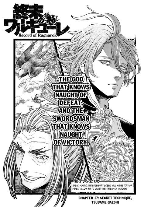 record  ragnarok chapter   chapter  mangasum
