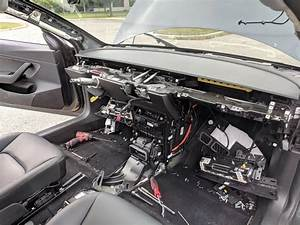 More Tesla guts! Model 3 dash replacement by mobile service. : teslamotors