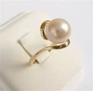 pearl wedding ring pearl ring gold ring womens pearl engagement ring