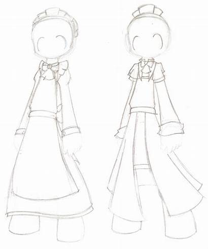 Maid Outfit Drawings Deviantart