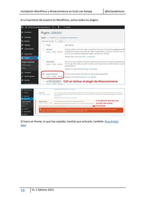 instalacion wordpress  woocommerce  xampp  migracion