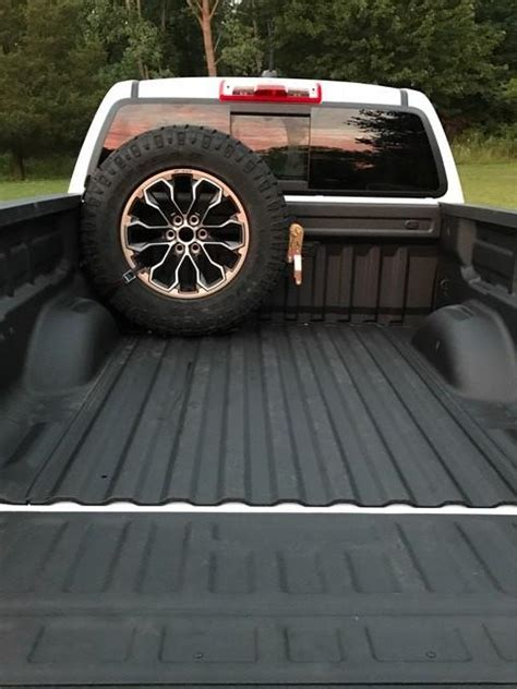 35865 truck bed spare tire mount colorado bed mounted spare tire carrier 589