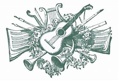 Musical Clip Antique Ornaments Graphics Enlarge Printers