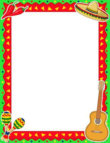Cinco de Mayo Border: Clip Art, Page Border, and Vector ...