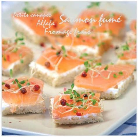 canapé au saumon fumé photos canapé saumon fumé