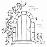 Coloring Pages Stamps Embroidery Colouring Door Digital Digi Patterns Designs Sheets Adult Books Crafts Behind sketch template