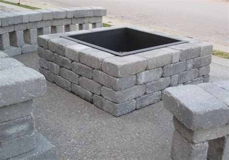 how to build a stacked fireplace pit block back yard kits fireplaces pits