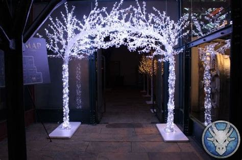 led crystal archway prom ideas fire  ice winter