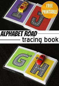 free letter tracing road book With letter tracing books
