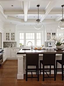 New england home hardwood floors white cabinetry