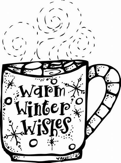 Clip Winter Warm Wishes Melonheadz Chocolate Coffee