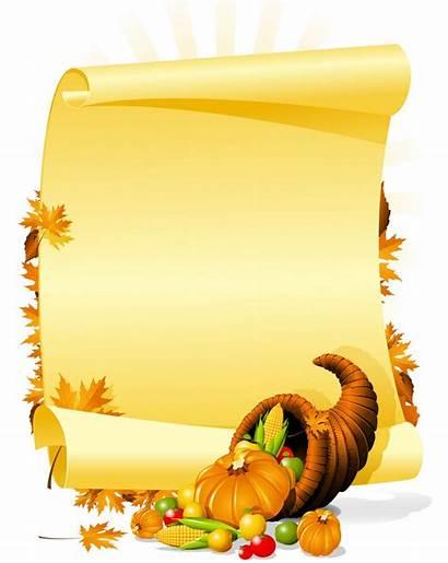 Thanksgiving Happy Cornucopia Clip Invitation Blank Clipart