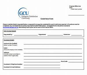 Credit Note Template 19 Free Word Pdf Documents