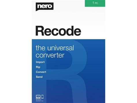 Nero recode is not just available in the full version. Nero Recode - Download - Newegg.com