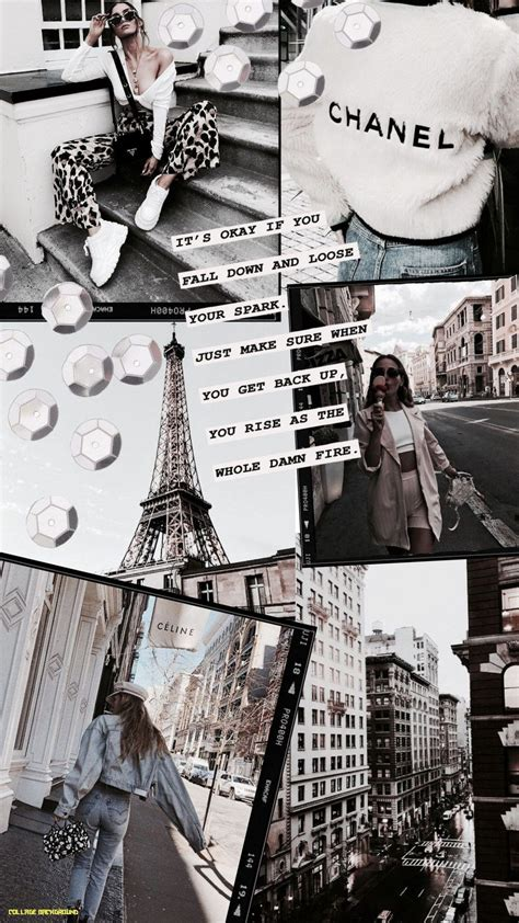 white aesthetic collage wallpapers