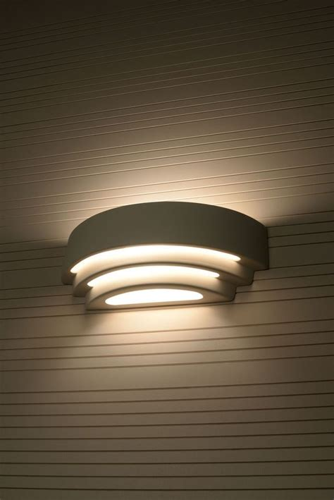 contemporary indoor wall light   curved white