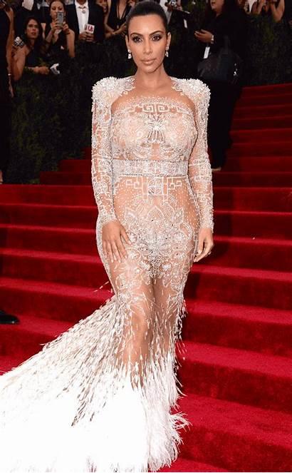 Gala Met Kim Carpet Dresses Gifs Kardashian