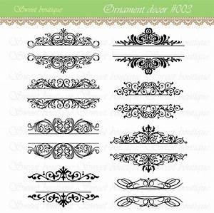 Word clip art wedding embellishments vintage calligraphy for Diy wedding invitations graphics