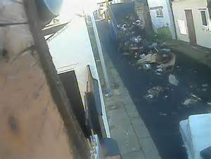 blackpool pair caught  video dumping contents  truck