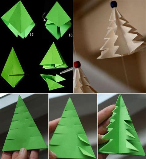 Tannenbaum Falten Aus Verschiedenen Materialien by Tannenbaum Falten Aus Verschiedenen Materialien Navidad