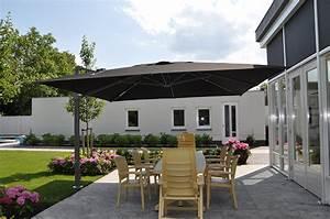 Parasol Grande Taille : parasol excentr palestro solero en 3x4m ou 4x4m pour terrasse hotel restaurant maison ~ Melissatoandfro.com Idées de Décoration