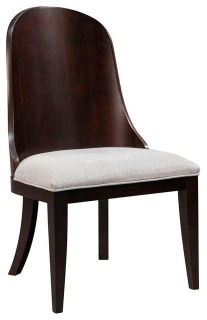 broyhill pinstripe upholstered seat wood back slipper