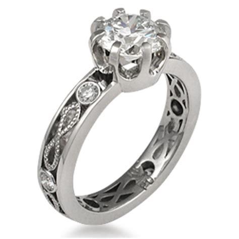 millegrain infinity engagement ring