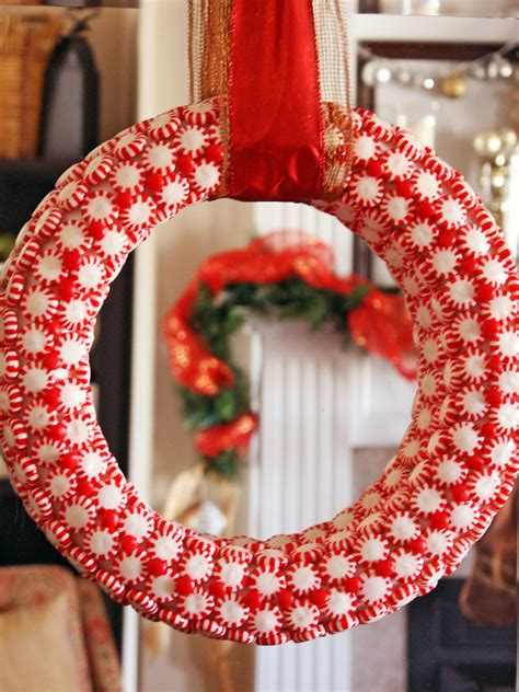 peppermint candy wreath hgtv