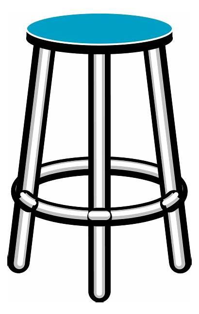 Stool Clip Clipart Furniture Chair Cliparts Bar