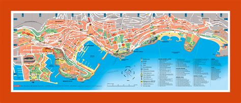 tourist map  monaco maps  monaco maps  europe