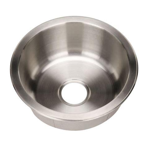 round stainless steel sink houzer club series undermount stainless steel 17 5 in