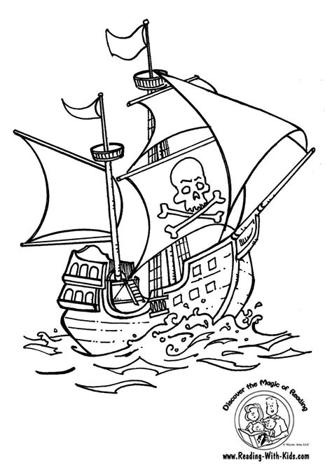 Pirate Ship Coloring Page by Pirate Ship Coloring Page Graphics And Backgrounds