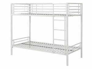 Ikea Lit 90x190 : lit superpos 90x190 cm brooke coloris blanc vente de ~ Teatrodelosmanantiales.com Idées de Décoration