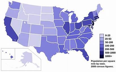 Population Density Map State Census 2000 Svg