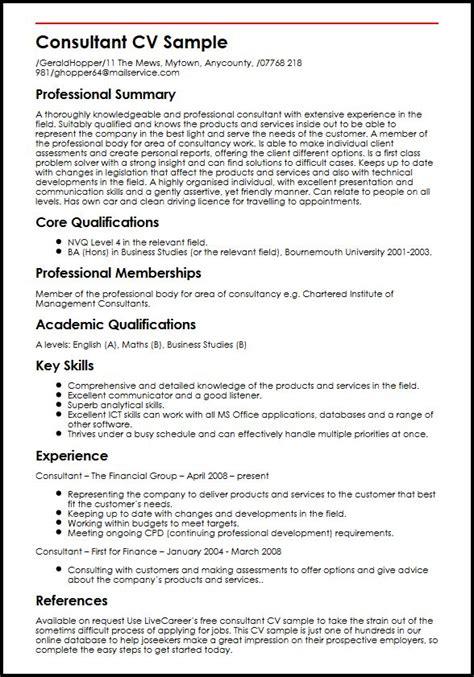 An Expert Resumean Expert Resume by Consultant Cv Sle Myperfectcv