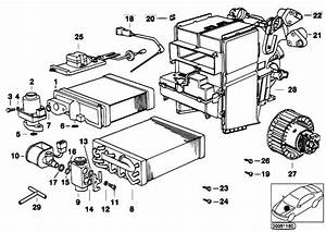 Original Parts For E38 L7 M73n Sedan    Heater And Air Conditioning   Add Air Conditio Unit