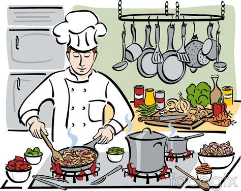 Cartoons Cooking Chefs Vector Illustration
