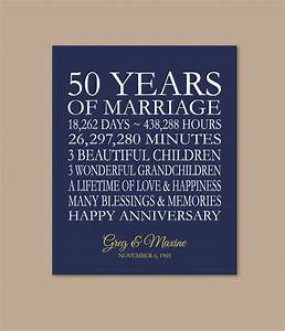 50th anniversary gift for parents 50 years married 50th With 50 year wedding anniversary gift