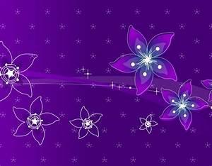 Flowers, In, Purple, 3d, Abstract, Purple, 4404