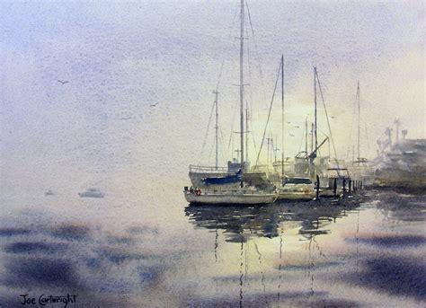 Watercolor Boat by Joe Cartwright S Watercolor San Diego Harbor