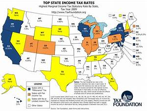 Map: Top State Income Tax Rates - Tax Foundation
