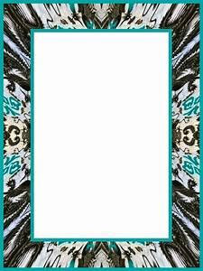 Cadre Noir Et Blanc : cadre noir gris et turquoise creations fine mouche ~ Teatrodelosmanantiales.com Idées de Décoration
