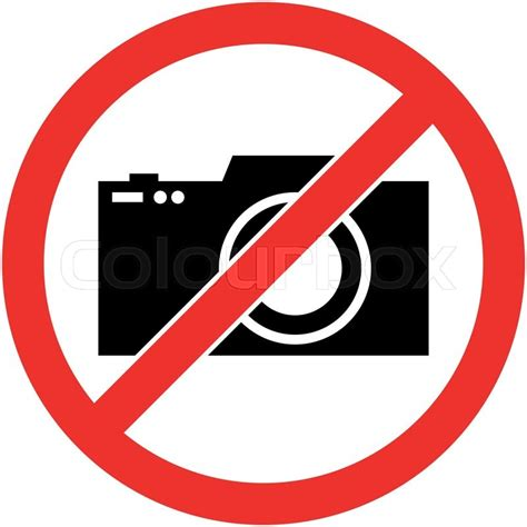 photography camera prohibited stock vector