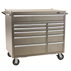 Stainless Steel Rolling Cabinet by Viper Tool Storage Pro 41 Inch 11 Drawer