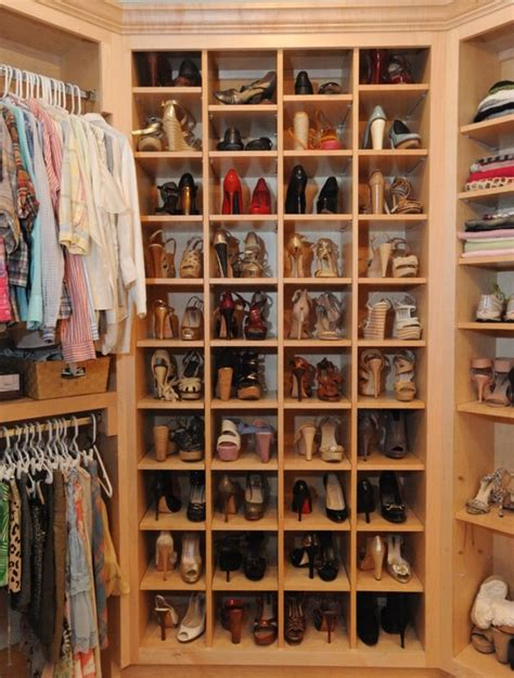 closet ideas for shoes shoe racks for closets casual cottage