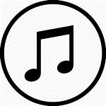 Icon Audio Circle Song Round Icons Notes
