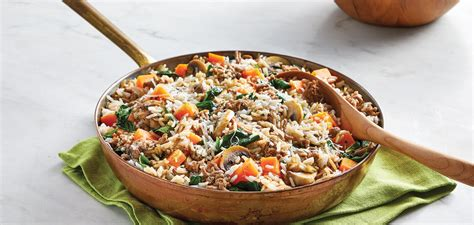 Our pasture raised ground pork is perfect for any sized family gathering. One-Skillet Ground Pork with Mushrooms & Rice - Safeway
