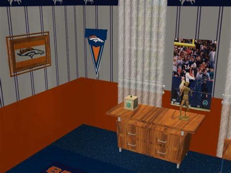 decor and more denver mod the sims denver broncos bedroom requested by jeffsta17
