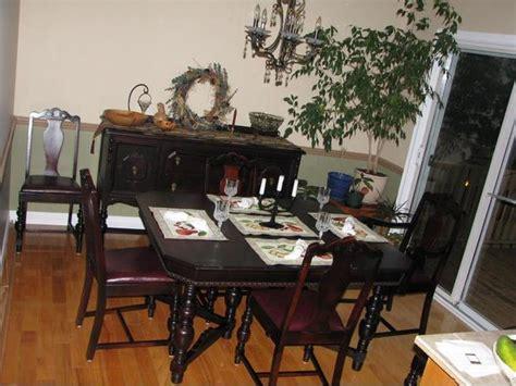 vintage walnut dining room set antique walnut dining room set outside 8847